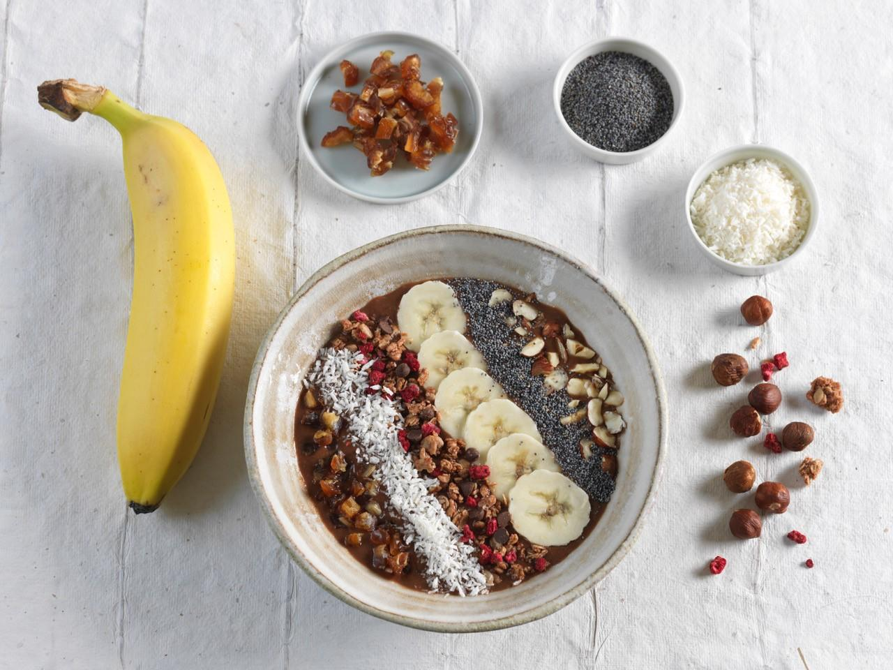 Smoothie bowl chocolat-bananes